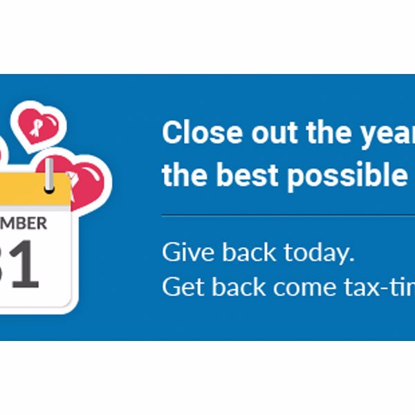 Have you made your 2018 Tax-deductible Charitable Donation?